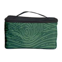 Illustration Green Grains Line Cosmetic Storage Case by Alisyart