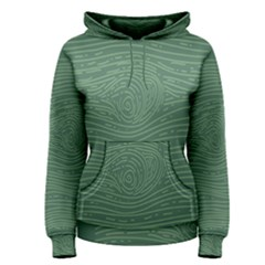 Illustration Green Grains Line Women s Pullover Hoodie