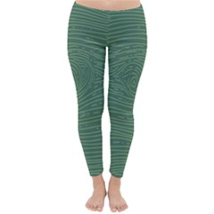 Illustration Green Grains Line Classic Winter Leggings