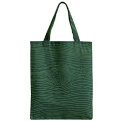 Illustration Green Grains Line Zipper Classic Tote Bag