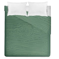 Illustration Green Grains Line Duvet Cover Double Side (queen Size) by Alisyart