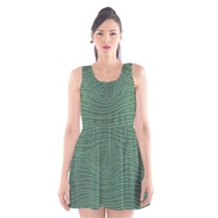 Illustration Green Grains Line Scoop Neck Skater Dress by Alisyart