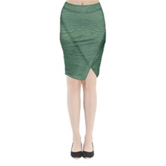 Illustration Green Grains Line Midi Wrap Pencil Skirt by Alisyart