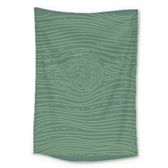 Illustration Green Grains Line Large Tapestry