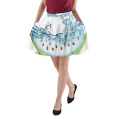 Fruit Water Slice Watermelon A-line Pocket Skirt by Alisyart