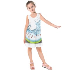 Fruit Water Slice Watermelon Kids  Sleeveless Dress by Alisyart