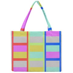Maximum Color Rainbow Red Blue Yellow Grey Pink Plaid Flag Mini Tote Bag by Alisyart