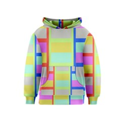 Maximum Color Rainbow Red Blue Yellow Grey Pink Plaid Flag Kids  Pullover Hoodie