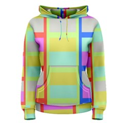 Maximum Color Rainbow Red Blue Yellow Grey Pink Plaid Flag Women s Pullover Hoodie