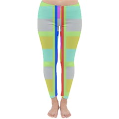 Maximum Color Rainbow Red Blue Yellow Grey Pink Plaid Flag Classic Winter Leggings