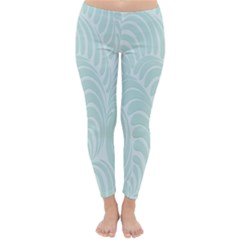 Leaf Blue Classic Winter Leggings
