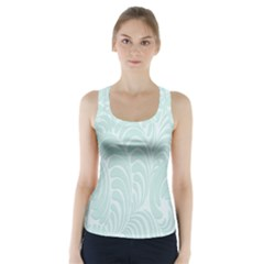Leaf Blue Racer Back Sports Top