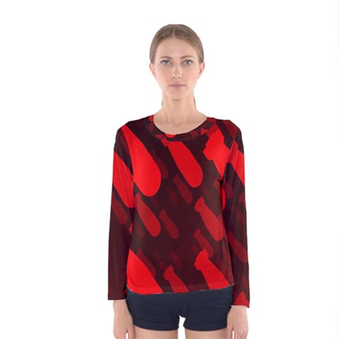 Missile Rockets Red Women s Long Sleeve Tee by Alisyart