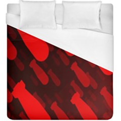 Missile Rockets Red Duvet Cover (king Size) by Alisyart