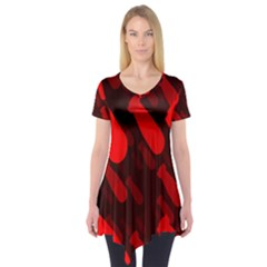 Missile Rockets Red Short Sleeve Tunic