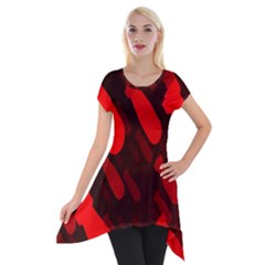 Missile Rockets Red Short Sleeve Side Drop Tunic by Alisyart