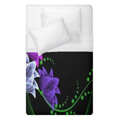 Neon Flowers Floral Rose Light Green Purple White Pink Sexy Duvet Cover (single Size) by Alisyart