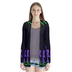 Neon Flowers Floral Rose Light Green Purple White Pink Sexy Cardigans by Alisyart