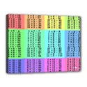 Multiplication Printable Table Color Rainbow Canvas 16  x 12  View1