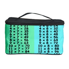 Multiplication Printable Table Color Rainbow Cosmetic Storage Case by Alisyart