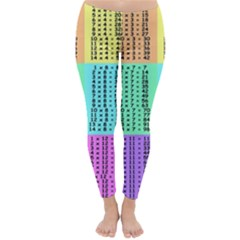 Multiplication Printable Table Color Rainbow Classic Winter Leggings