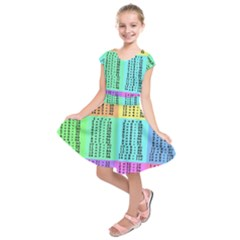 Multiplication Printable Table Color Rainbow Kids  Short Sleeve Dress by Alisyart