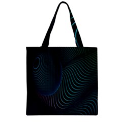 Line Light Blue Green Purple Circle Hole Wave Waves Grocery Tote Bag by Alisyart