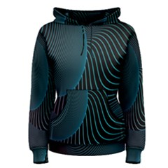 Line Light Blue Green Purple Circle Hole Wave Waves Women s Pullover Hoodie