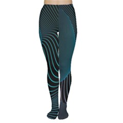 Line Light Blue Green Purple Circle Hole Wave Waves Women s Tights by Alisyart