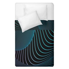 Line Light Blue Green Purple Circle Hole Wave Waves Duvet Cover Double Side (single Size) by Alisyart