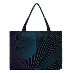 Line Light Blue Green Purple Circle Hole Wave Waves Medium Tote Bag by Alisyart