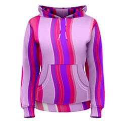 Pink Wave Purple Line Light Women s Pullover Hoodie