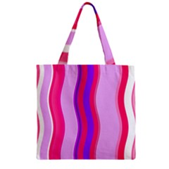 Pink Wave Purple Line Light Zipper Grocery Tote Bag by Alisyart