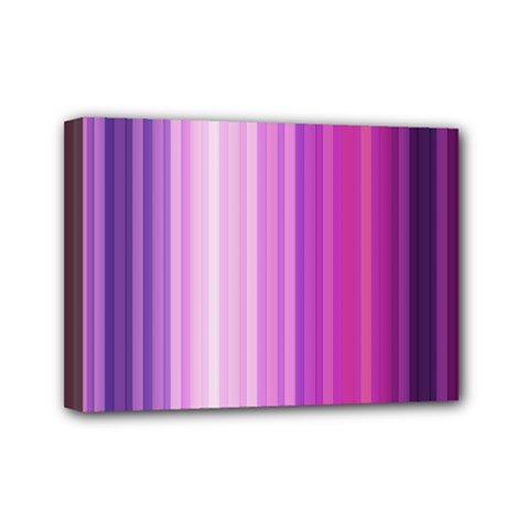 Pink Vertical Color Rainbow Purple Red Pink Line Mini Canvas 7  X 5  by Alisyart