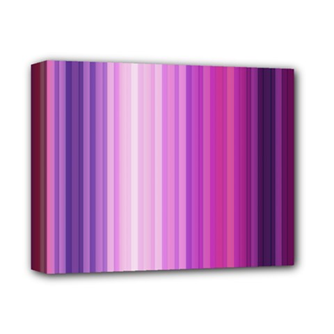 Pink Vertical Color Rainbow Purple Red Pink Line Deluxe Canvas 14  X 11  by Alisyart