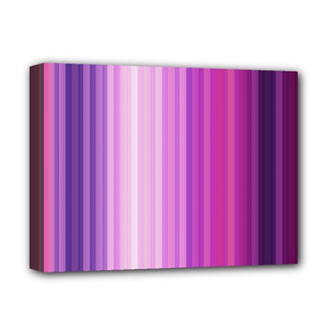 Pink Vertical Color Rainbow Purple Red Pink Line Deluxe Canvas 16  X 12