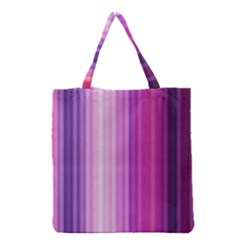 Pink Vertical Color Rainbow Purple Red Pink Line Grocery Tote Bag by Alisyart