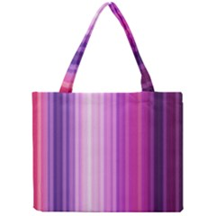 Pink Vertical Color Rainbow Purple Red Pink Line Mini Tote Bag by Alisyart