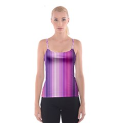Pink Vertical Color Rainbow Purple Red Pink Line Spaghetti Strap Top