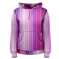 Pink Vertical Color Rainbow Purple Red Pink Line Women s Pullover Hoodie