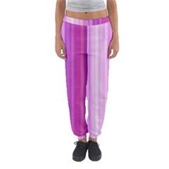 Pink Vertical Color Rainbow Purple Red Pink Line Women s Jogger Sweatpants