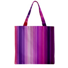 Pink Vertical Color Rainbow Purple Red Pink Line Zipper Grocery Tote Bag by Alisyart