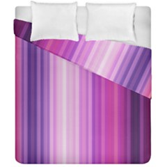 Pink Vertical Color Rainbow Purple Red Pink Line Duvet Cover Double Side (california King Size)