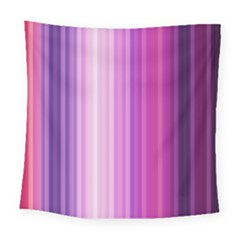 Pink Vertical Color Rainbow Purple Red Pink Line Square Tapestry (large)