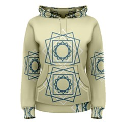 Shape Experimen Geometric Star Plaid Sign Women s Pullover Hoodie