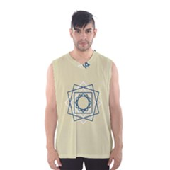 Shape Experimen Geometric Star Plaid Sign Men s Basketball Tank Top by Alisyart