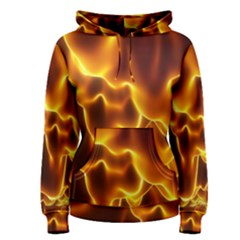 Sea Fire Orange Yellow Gold Wave Waves Women s Pullover Hoodie