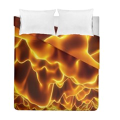 Sea Fire Orange Yellow Gold Wave Waves Duvet Cover Double Side (full/ Double Size)