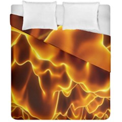 Sea Fire Orange Yellow Gold Wave Waves Duvet Cover Double Side (california King Size) by Alisyart