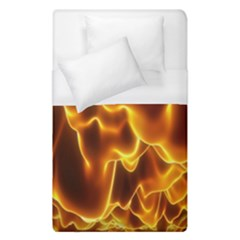 Sea Fire Orange Yellow Gold Wave Waves Duvet Cover (single Size) by Alisyart
